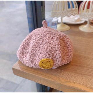 海外子供服 ニコちゃん/スマイル付きベレー帽/どんぐり帽