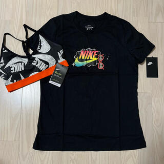 NIKE - NIKE Tシャツ ブラ 2点セット レディースM