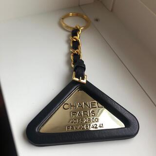 CHANEL - 【超希少】シャネル トライアングル キーホルダー ゴールド ブラック 94P