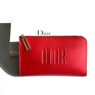 Christian Dior - ディオール ノベルティ ポーチ レッド 箱付き