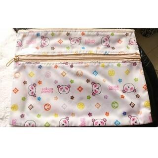 大丸♥松坂屋♥さくらパンダ♥ノベルティポーチ♥非売品♥レインボーモノグラム