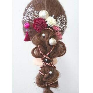 ◯特価作品◯ 髪飾り くみひも髪飾り 成人式髪飾り 卒業式髪飾り 七五三髪飾り