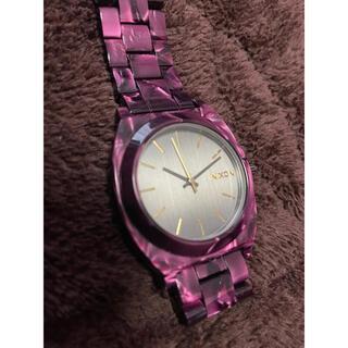 NIXON - パープル べっ甲 NIXON 腕時計