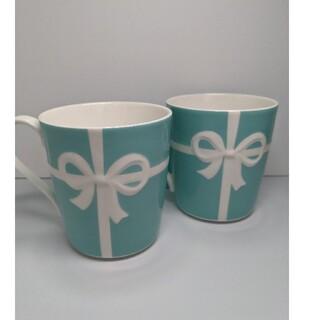 Tiffany & Co. - ティファニー ブルーリボン マグカップ 2個セット 新品