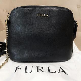 Furla - 美品 FURLA フルラ ショルダーバッグ ブラック 黒 チェーンバッグ