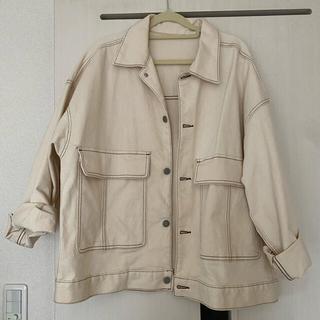 GU - gu ステッチ Gジャン ビッグポケットワークジャケット