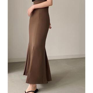 louren|pleats mermaid skirt |brown|新品