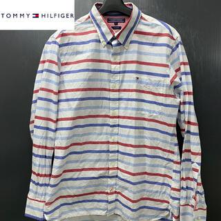 TOMMY HILFIGER - 【TOMMY HILFIGER】(トミーヒルフィガー) ボーダーストライプシャツ