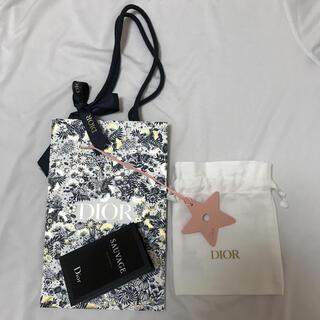 Dior - ディオール ショッパー ソヴァージュ1ml チャーム ミニ巾着