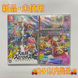 任天堂 - 【新品】スマッシュブラザーズ SP マリオカート8 デラックス スイッチ ソフト