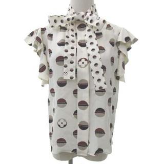 LOUIS VUITTON - ルイヴィトン 美品 20SS ボウタイ ブラウス フリル シルク シャツ 34