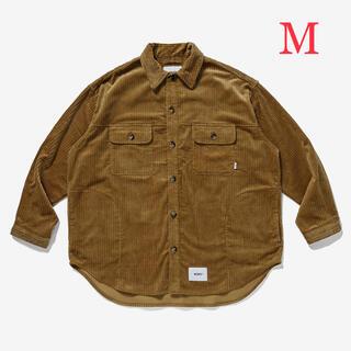 W)taps - M wtaps wcpo l/s corduroy camel シャツ 21aw