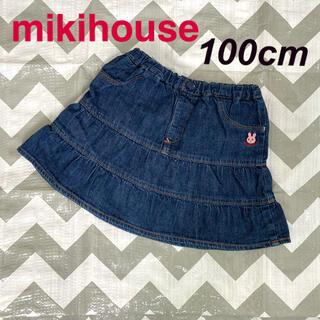 ミキハウス(mikihouse)のmikihouse デニムスカート 100cm(スカート)