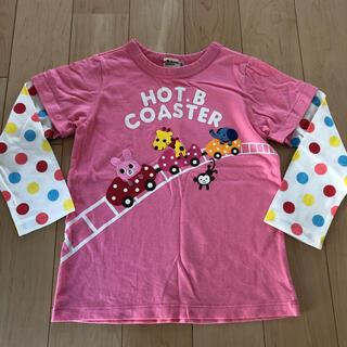 ミキハウス(mikihouse)の水通しのみ新品未使用ミキハウス ホットビスケッツ ロンT Tシャツ 120センチ(Tシャツ/カットソー)