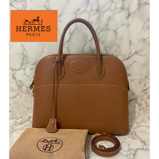 Hermes - HERMES ボリード37 ハンドバッグ クシュベル □C刻印 ブラウン系