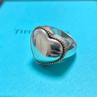 Tiffany & Co. - Tiffany&Co. ヴィンテージ ティファニー コンビ ハート リング