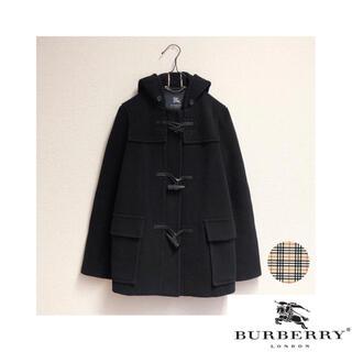 BURBERRY BLUE LABEL - 美品 超特価 ★バーバリーロンドン ノバチェック ダッフル コート 黒