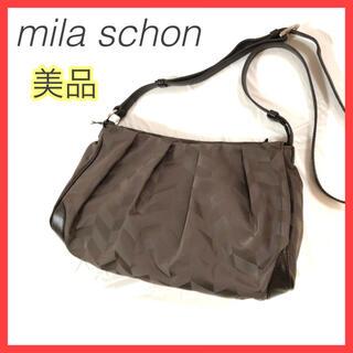 mila schon - 【美品】mila schon ミラショーン ショルダーバッグ 総柄 ブラウン 茶