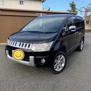 デリカ D5  4WD 8人乗り 黒 車検付 8インチナビ 車高UP 福岡発