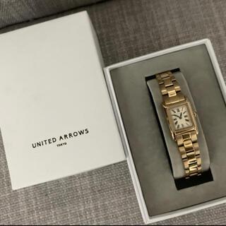 UNITED ARROWS - UNITED ARROWS 腕時計 ゴールド スクエア