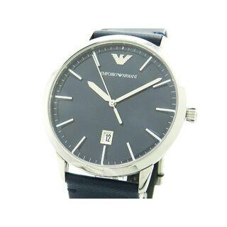 エンポリオアルマーニ(Emporio Armani)の未使用 正規品 エンポリオアルマーニ 腕時計 メンズ 43mm ネイビー カフス(腕時計(アナログ))