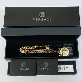 VERSACE - 【正規品】ヴェルサーチ VERSACE ネックレス ゴールド クリスタル