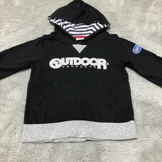 アウトドア(OUTDOOR)の子供服 outdoor アウトドア パーカー 110 黒 秋冬(ジャケット/上着)