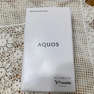 AQUOS - AQUOS sense4 basic シルバー Ymobile版SIMフリー A