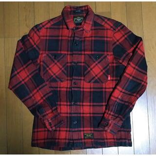 ダブルタップス(W)taps)の11aw WTAPS UNION チェックシャツ 赤 S 名作(シャツ)