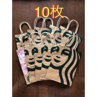 Starbucks Coffee - starbucks スタバ 紙袋 ショップ袋 スターバックス 10枚