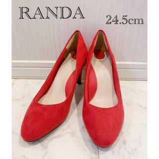RANDA - RANDA ランダ 美品 コスプレなどに スエードパンプス 24.5cm