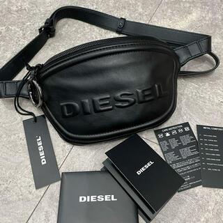 DIESEL - 最後の1点☆DIESEL 本革 レザー ボディバッグ ブラック 黒 ユニセックス