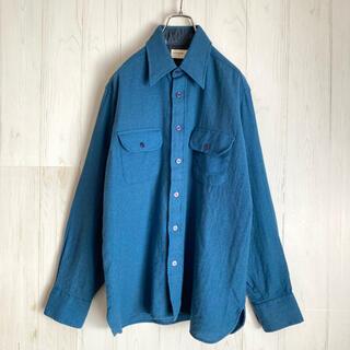 アロー(ARROW)の70s ビンテージ  ARROW アロー 古着 ウールシャツ 韓国製(シャツ)