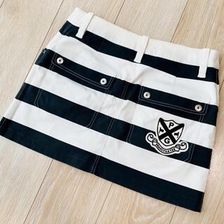PEARLY GATES - パーリーゲイツ スカート 0 レディース ワンピース ボーダー パンツ