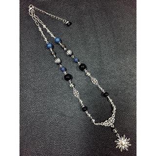 【最終値下げ/美品】STUGAZI風太陽ブラックパールチェーンネックレス(ネックレス)