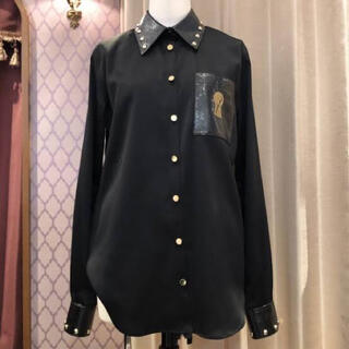 プラダ(PRADA)のa maiden devil keyhole shirt(シャツ/ブラウス(長袖/七分))