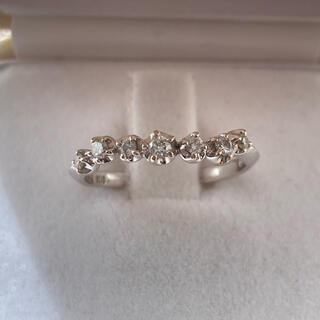 スタージュエリー(STAR JEWELRY)のスタージュエリー ダイヤモンド リング 8号 K18WG  美品(リング(指輪))