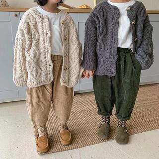 ケーブル編み ニット カーディガン 100 男の子 女の子 子供服