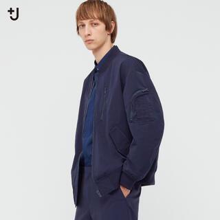 Jil Sander - ユニクロ +J オーバーサイズブルゾン ネイビー Mサイズ
