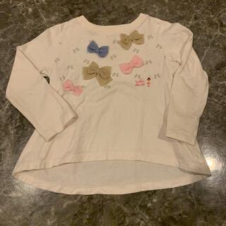 ミキハウス(mikihouse)のミキハウス*リボン ロンT 110(Tシャツ/カットソー)
