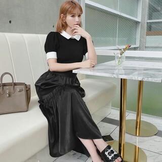 レディー(Rady)のRady フリルマキシスカート ブラック Mサイズ 新品未使用♪黒BLK(ロングスカート)