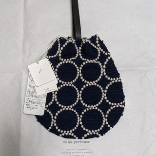 mina perhonen - 【新品】ミナペルホネン タンバリン ドロップバッグ drop bag ネイビー