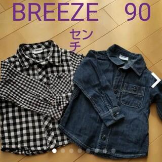 ブリーズ(BREEZE)のBREEZE ボタンシャツ2枚 used 90センチ(Tシャツ/カットソー)
