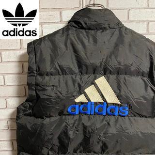 adidas - 90s 古着 アディダス ダウンベスト 刺繍ロゴ ゆるだぼ ビッグシルエット