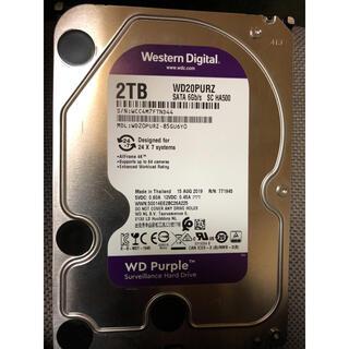 中古 WD Purple WD20PURZ 2TB HDD