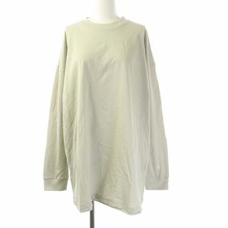 ナゴンスタンス 長袖 Tシャツ カットソー ロンT オーバーサイズ M グレー