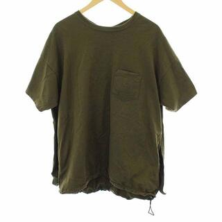REMI RELIEF - レミレリーフ Tシャツ カットソー 変形デザイン 裾ドローコード L カーキ