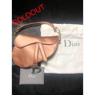 Christian Dior - 【新品☆未使用品】DIOR Pink Satin Mini Saddle Bag
