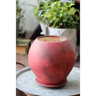 シックなボルドー植木鉢(プランター)