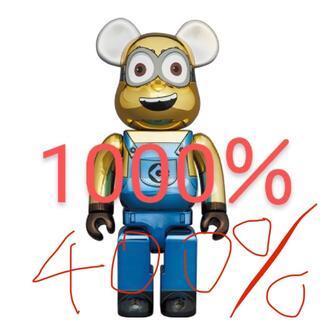 MEDICOM TOY - BE@RBRICK DAVE CHROME Ver. 1000% 400%